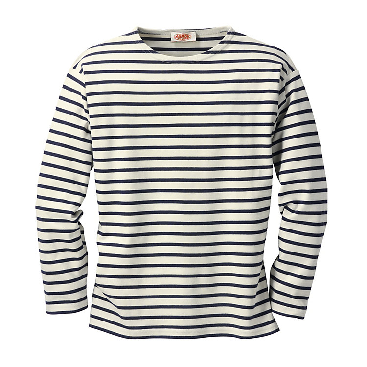 Armor lux Sailor's Long Sleeved Shirt Natural-Navy Blue