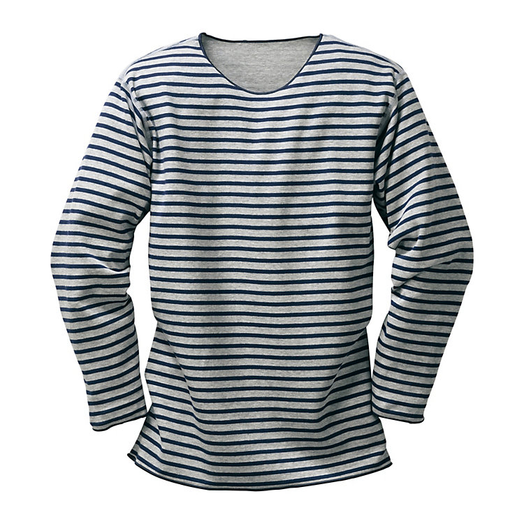 Armor lux Striped Shirt Light Grey