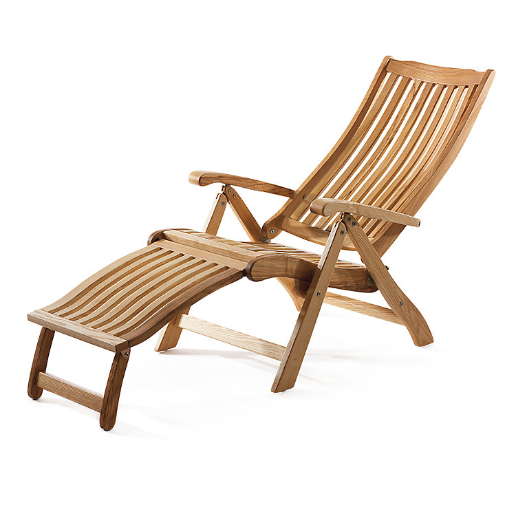 Ash Wood Deck Chair