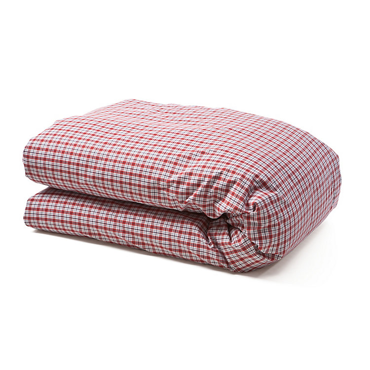 Bärenstein Checked Bed Covers 135 x 200 cm Red