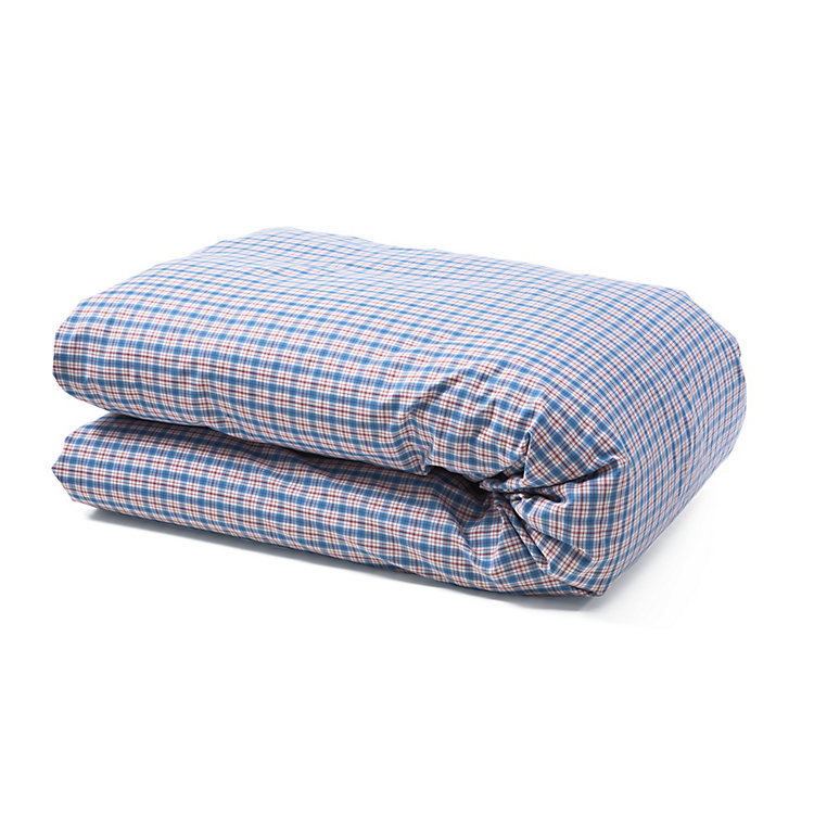 Bärenstein Checked Bed Covers Blue 140 × 200 cm