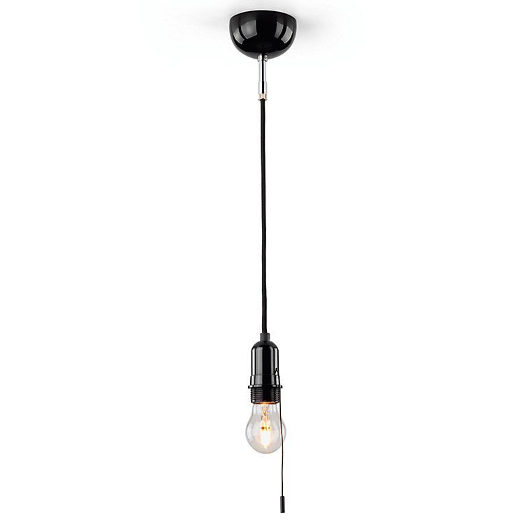 Bakelite® Industrial Lamp With Pull Switch