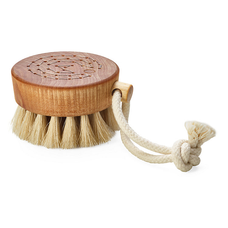 Bath Brush with Horsehair Bristles Small