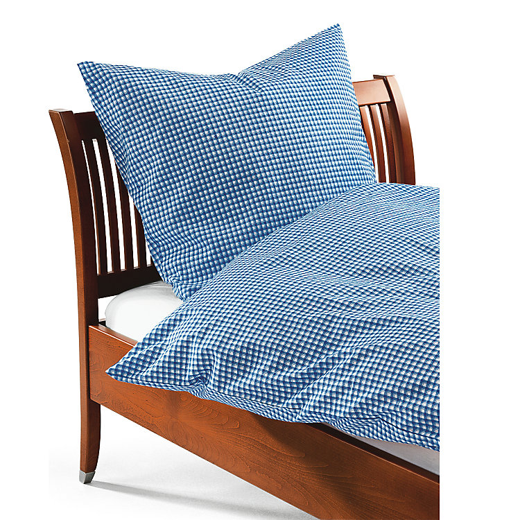 Bed Linen With Checkerboard Pattern Blue and White checkered Blue and White checkered - 135 × 200 cm