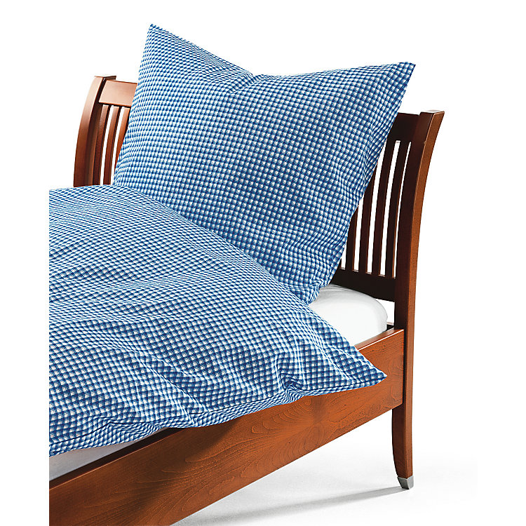 Bed Linen With Checkerboard Pattern Blue and White checkered Blue and White checkered - 155 × 220 cm