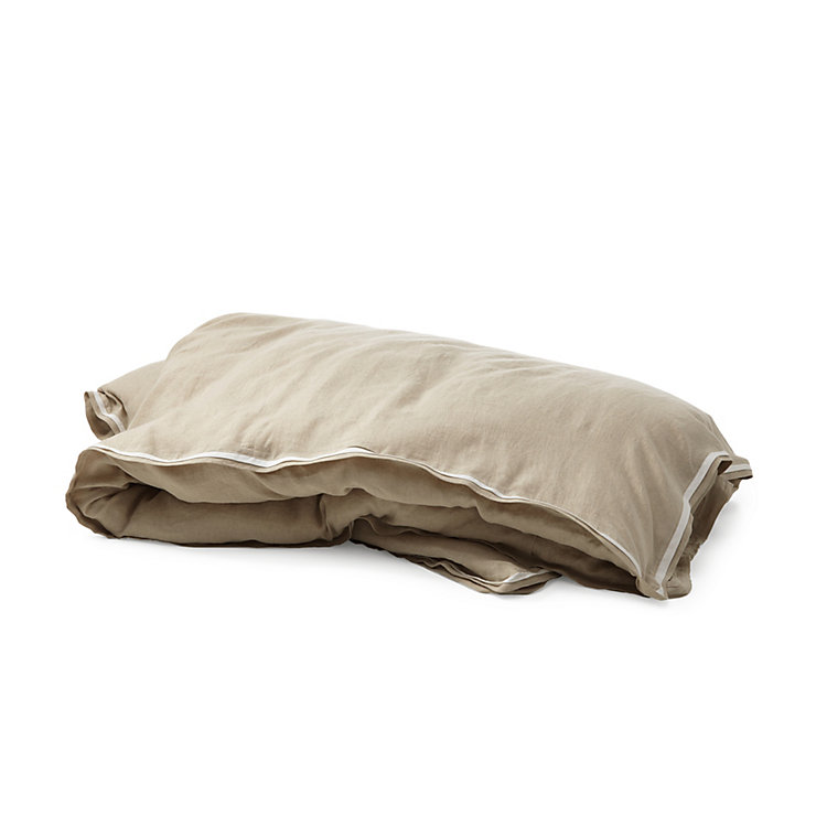 Bed Linen Made of Washed Linen 135 x 200 cm Natural coloured