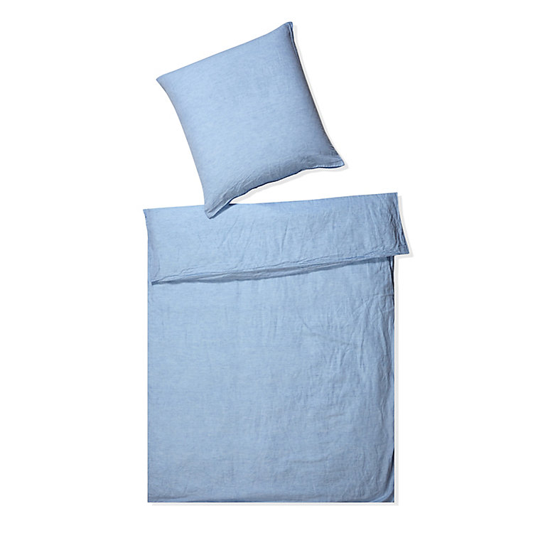 Bed-Set Lin Light Blue