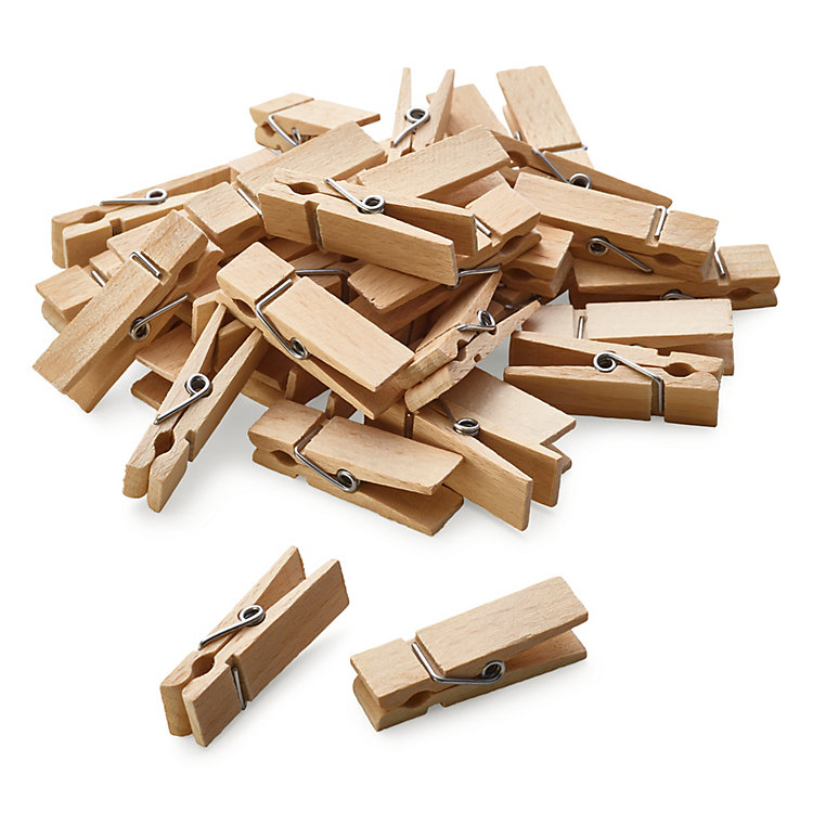Beech Wood Clothes Pegs