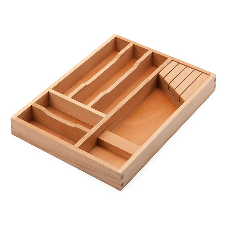 Beechwood Cutlery and Knife Tray