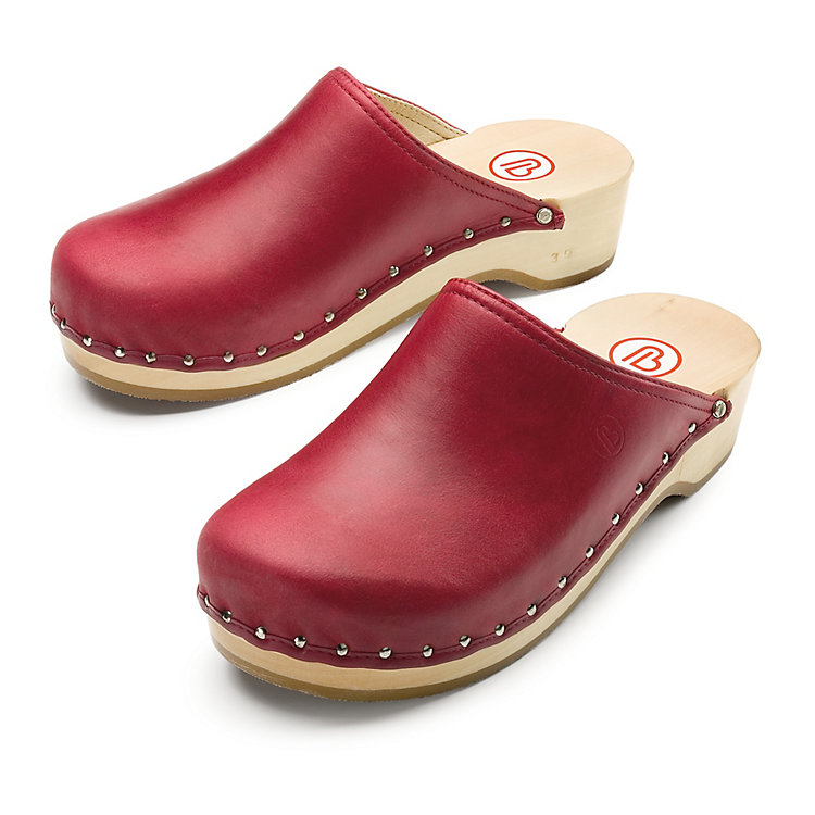 Berkemann Nappa Clogs Red