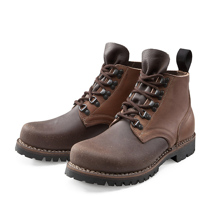 Bertl Russia Leather Work Boots, Brown