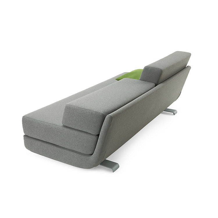 Bettsofa Lounge Plus Hellgrau, meliert