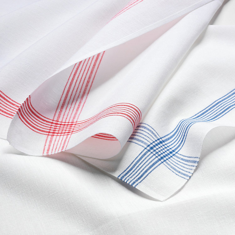 Bielefeld Linen Crystal Cloth Red Striped