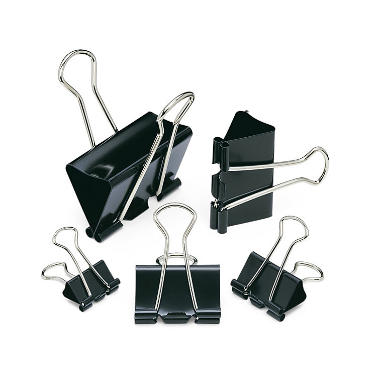 Binder Clips, 41 mm, 12 Pieces