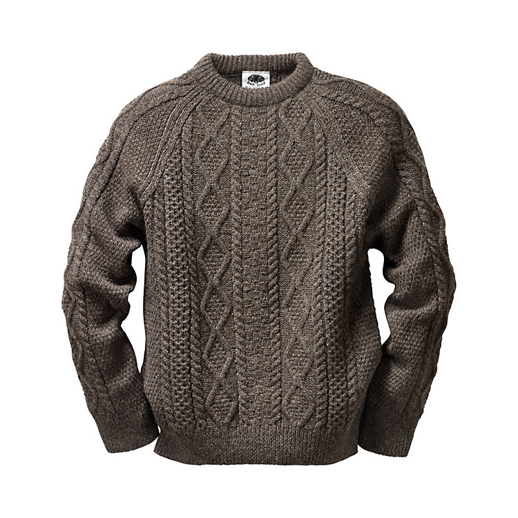 Black Sheep Aran Pullover Brown