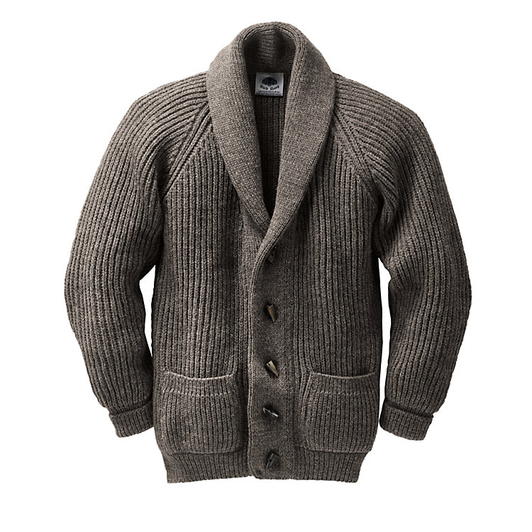Black Sheep Cardigan Natural-Dark Mix