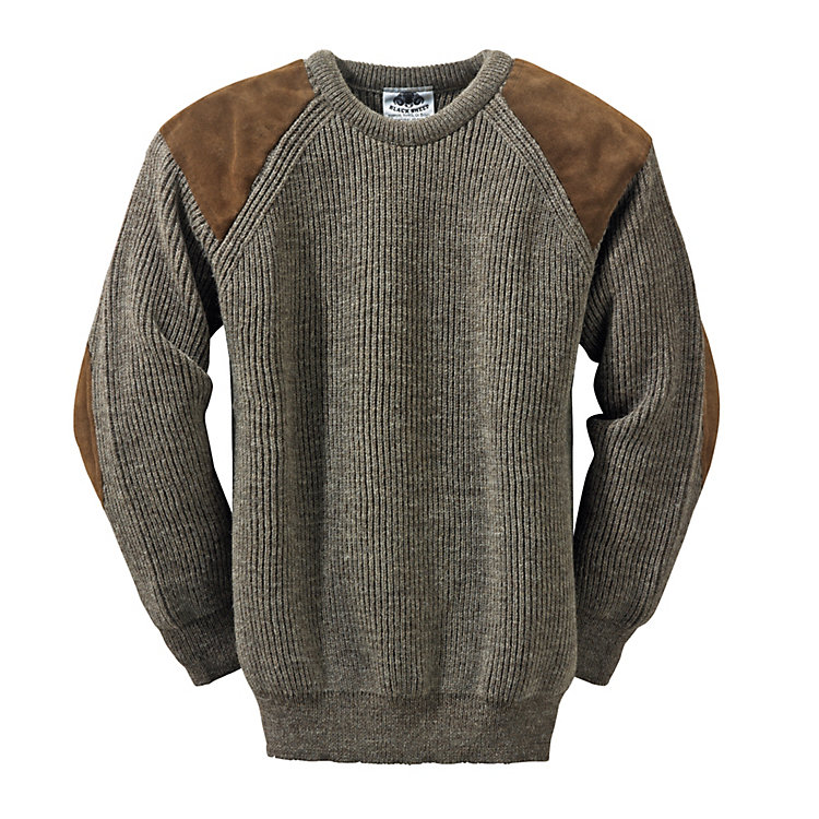 Black Sheep Strickpullover Natur-Dunkel-Melange