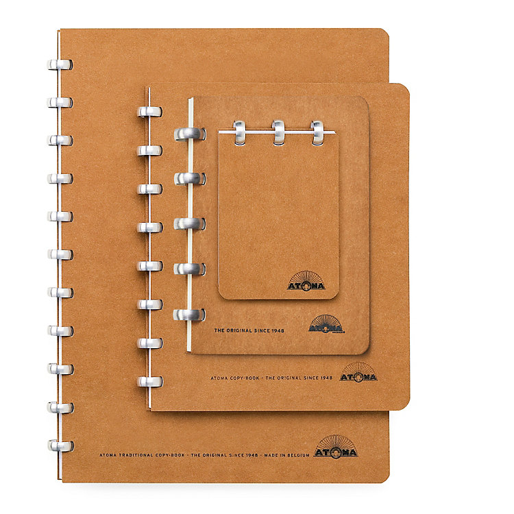 Blank Atoma A4 Notebook Brown
