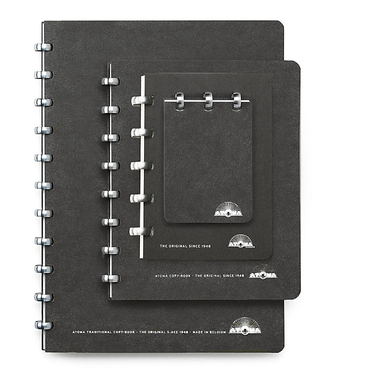 Blank Atoma A5 Notebook Black