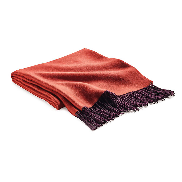Blanket Double-Faced Fabric Berry