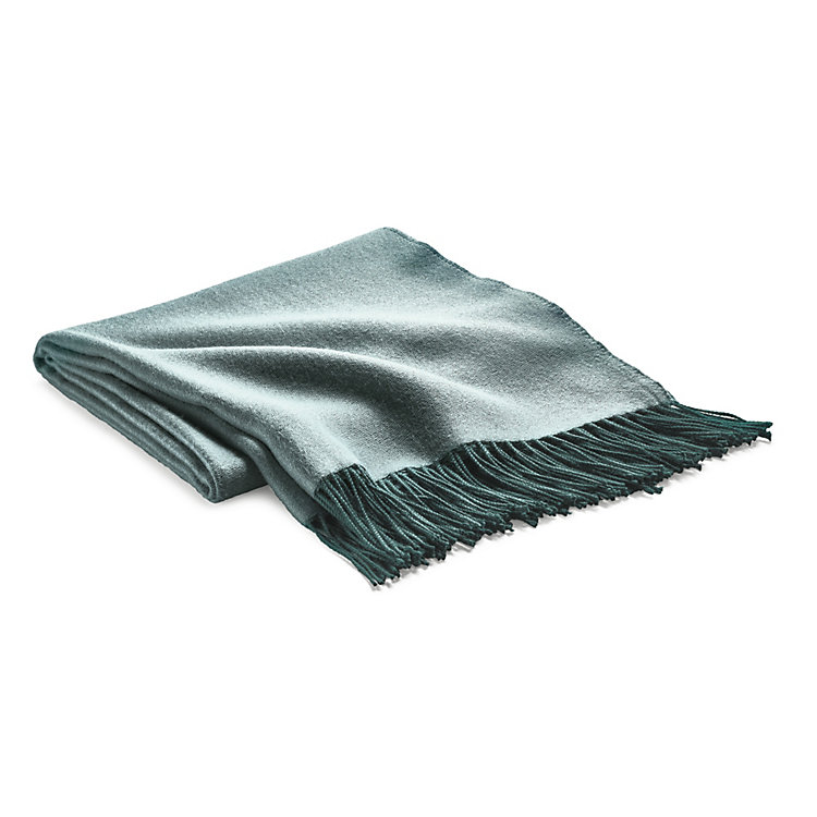 Blanket Double-Faced Fabric Petrol
