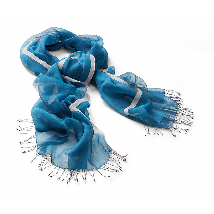 Blue Valley Cotton Scarf Petrol