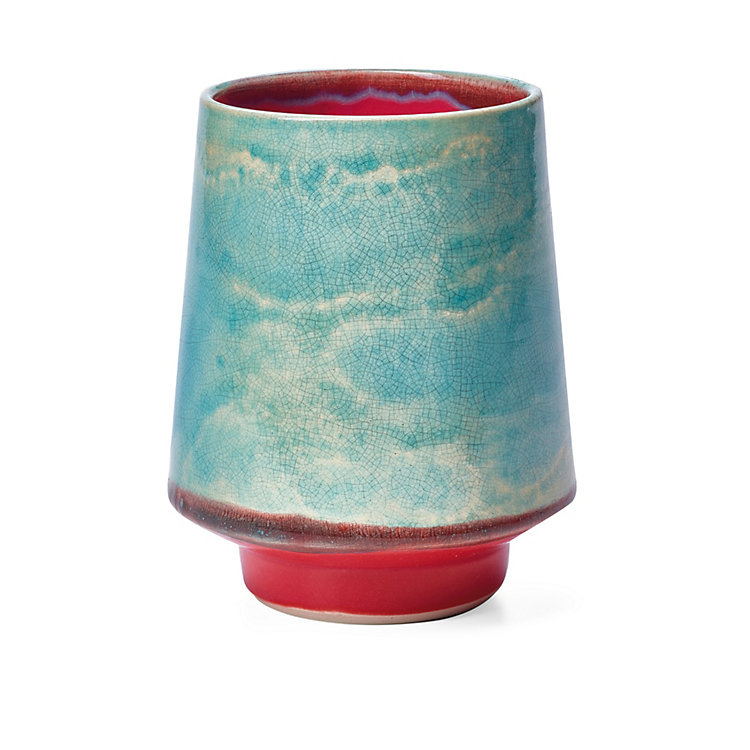 Bogler Drinking Vessel in Sky Blue and Raspberry Red