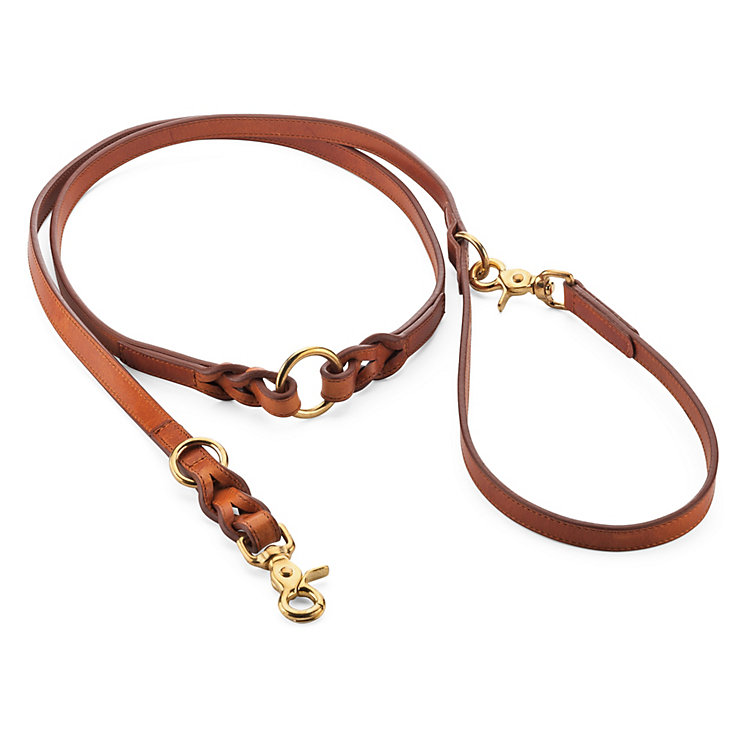 Braided Dog Leash  Brown