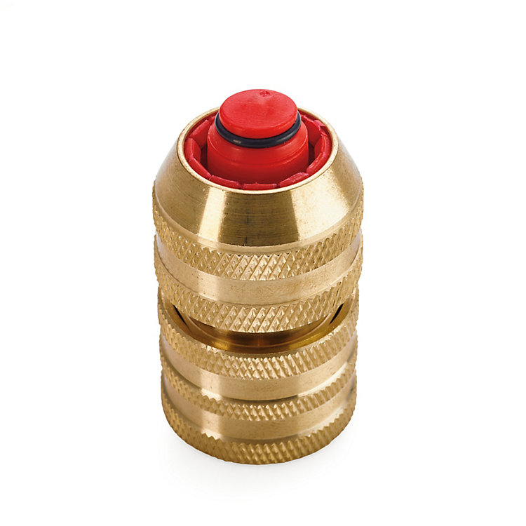 Brass Hose Coupling Water Stop for Rubber Hoses