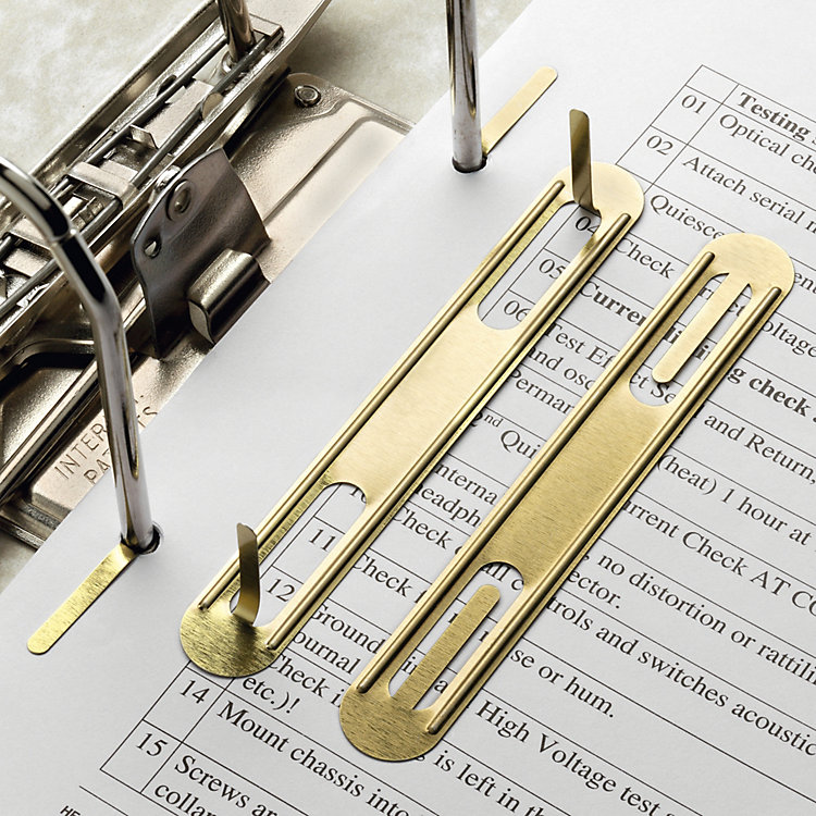 Brass-Plated Steel Sheet Filing Clips
