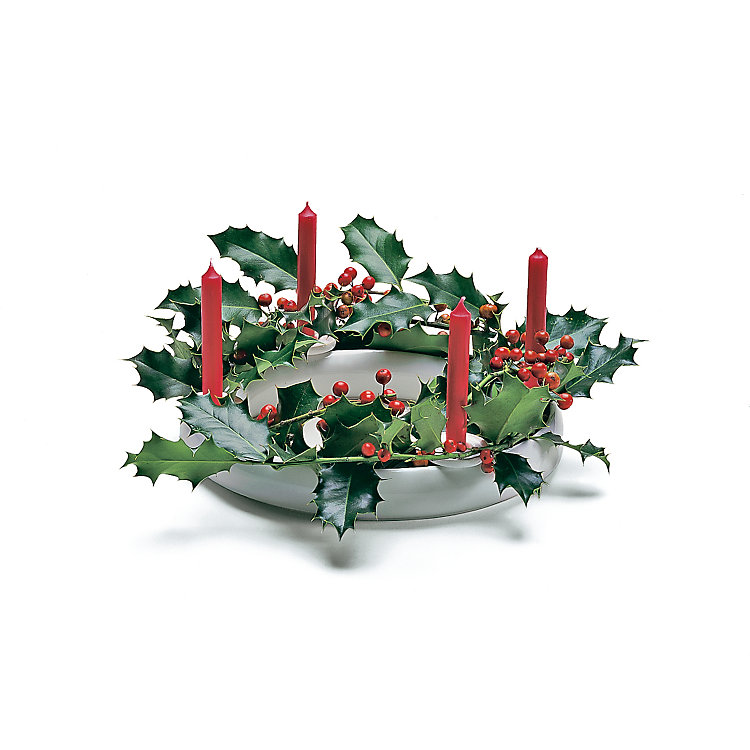 Candle Holder Ring of Flowers (4 Pieces)