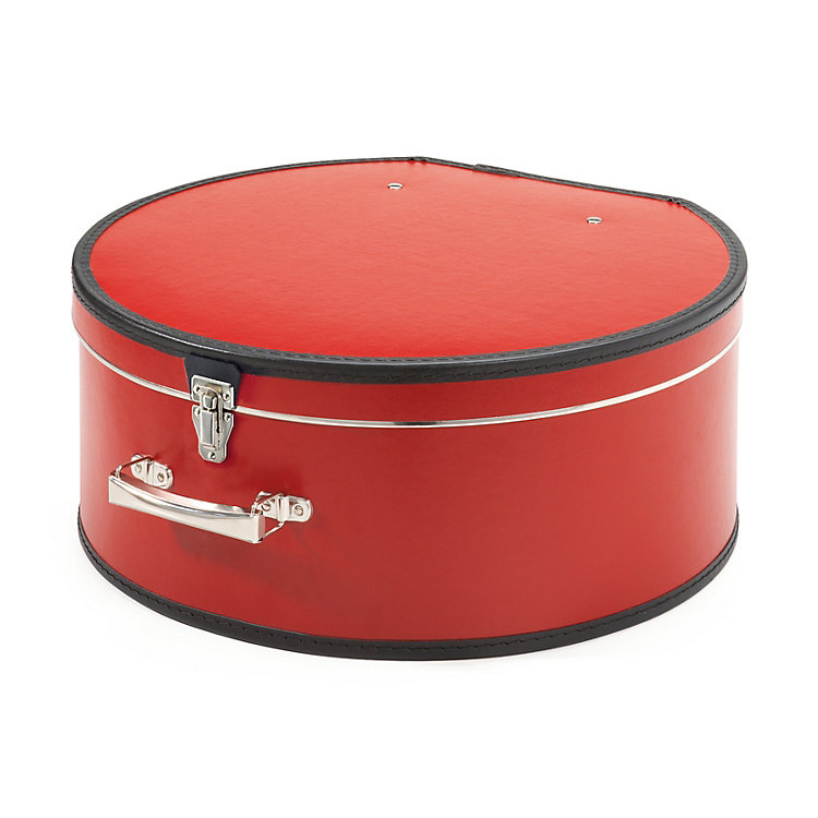 Carboard Hatbox Width 50 cm Red