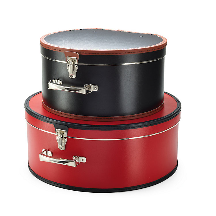 Carboard Hatbox, Red