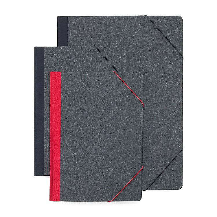 Cardboard Elasticated Folder A4. With a red back. With a red back.