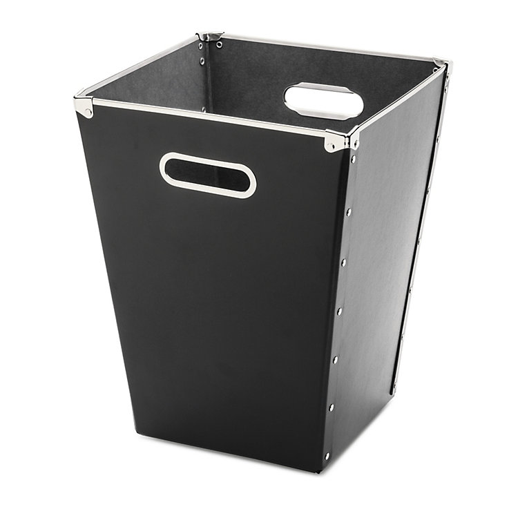 Cardboard Waste Paper Basket Black