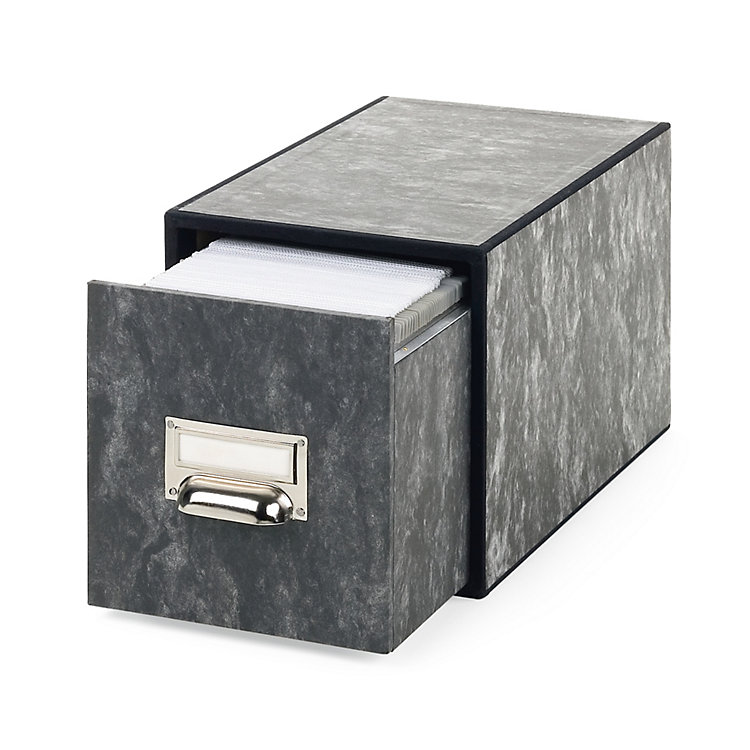 CD Storage Drawer Box With Guide Rails Marbled