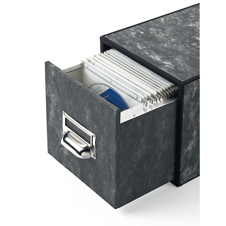Cd Storage Drawer Box With Guide Rails Marbled Manufactum
