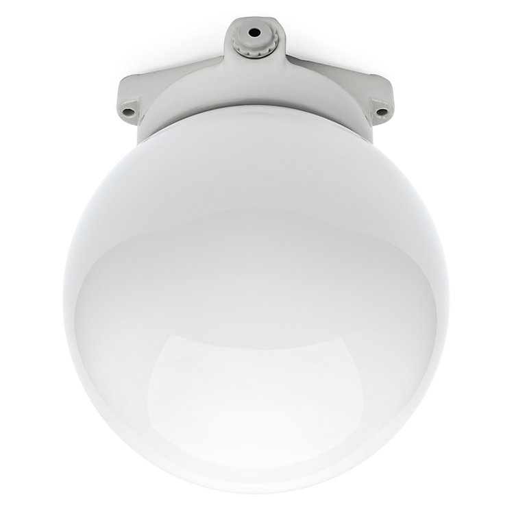 Ceiling Lamp Made of Porcelain with Frosted Glass Globe