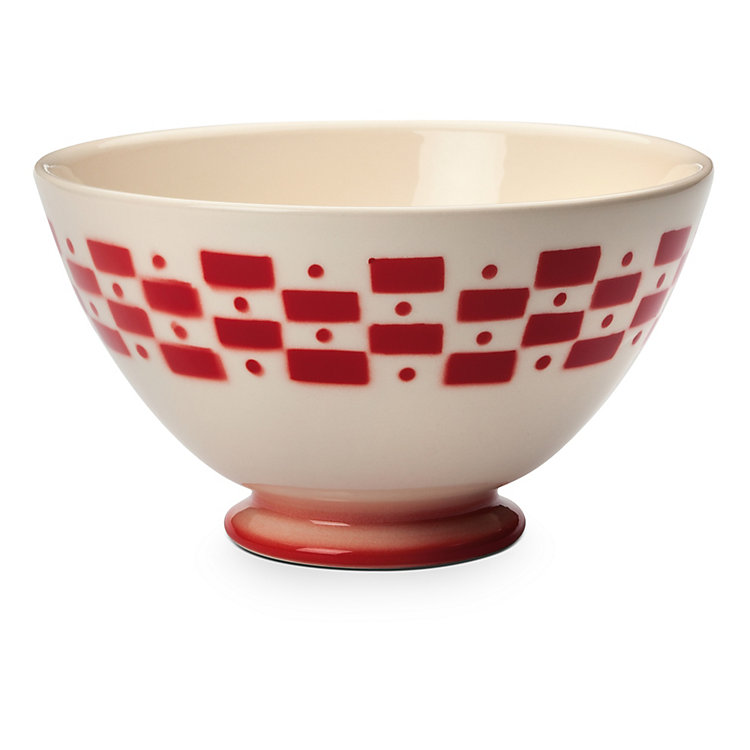 Ceramic Latte Bowl, Red