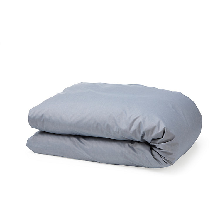 Chambray Bed Cover Blue 155 × 220 cm