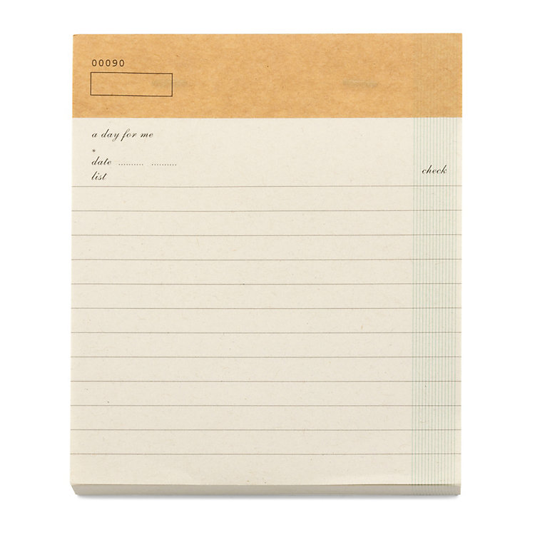 Check List Note Pad A5 Soft White