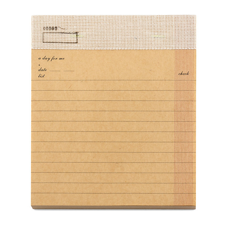 Check List Note Pad A5 Light Brown