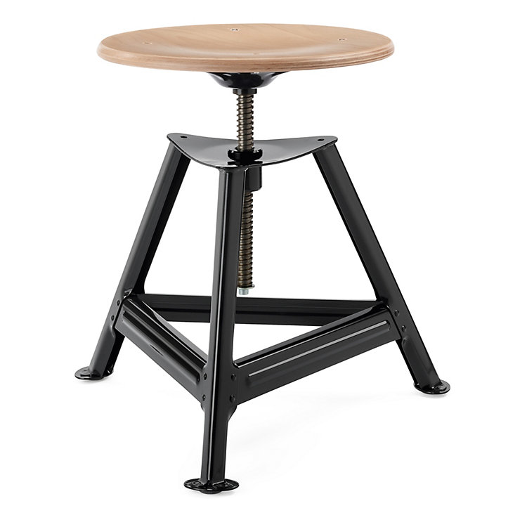 Chemnitz Stool Height-Adjustable Nightblack