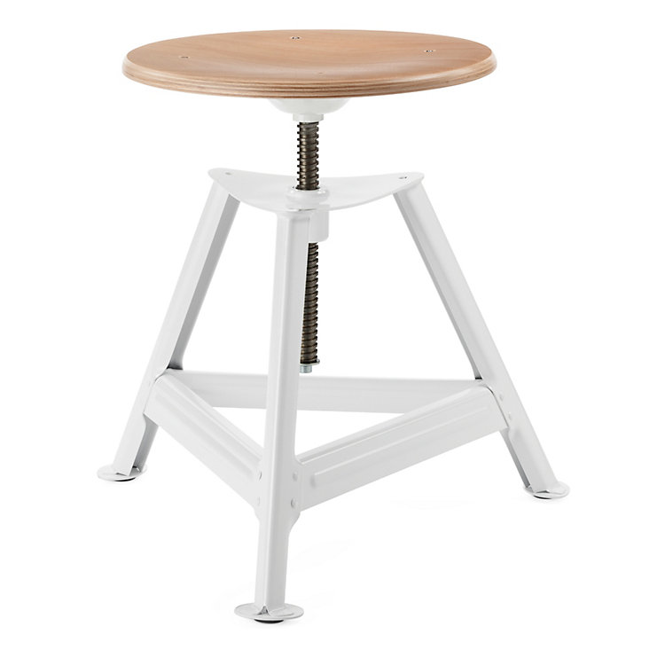 Chemnitz Stool Height-Adjustable, Bright White
