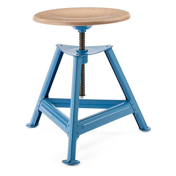 Chemnitz Stool Height-Adjustable Light Blue