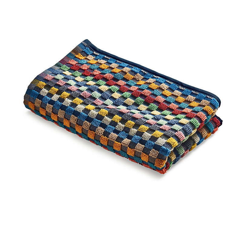 Chequered Terry Cloth Guest Towel
