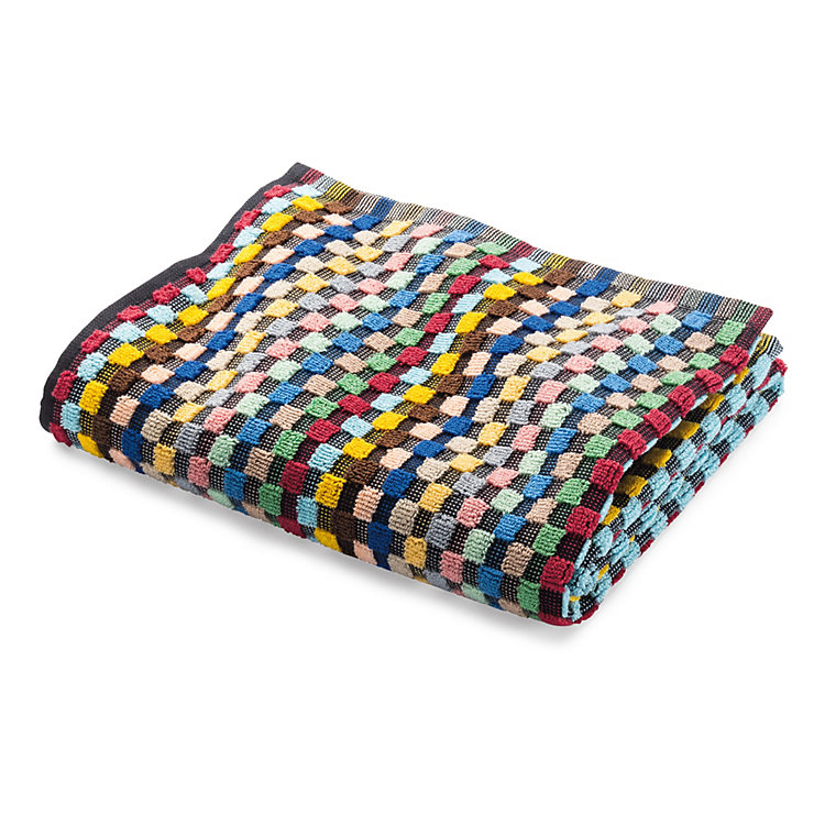 Chequered Terry Cloth Shower Towel