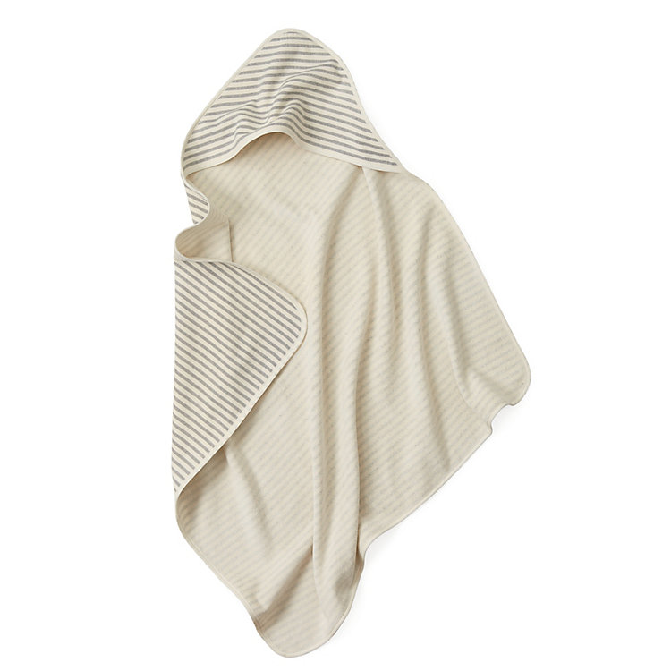 Children's Hooded Towel Fine Stripes