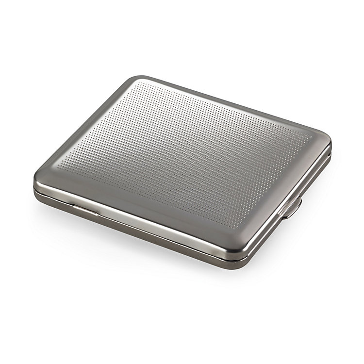 Cigarette Case Made of Sheet Steel Dot Pattern