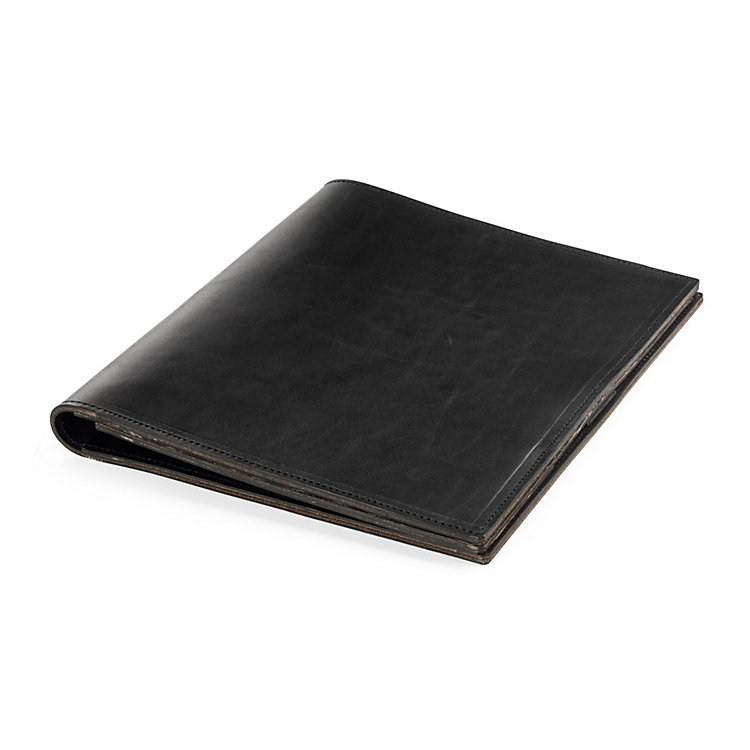 Conference and Project Folder Ox-Neck Leather Format A5: Black